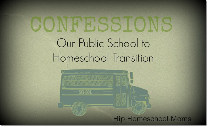 Our Public School to Homeschool Transition